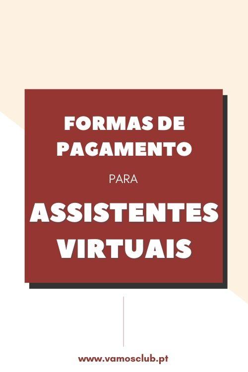 Formas de pagamento para Assistentes Virtuais